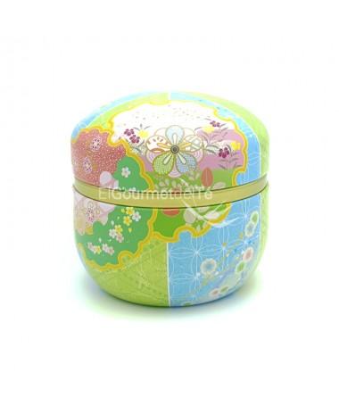 lata Japonesa tono verde azul - almacenar té e infusiones