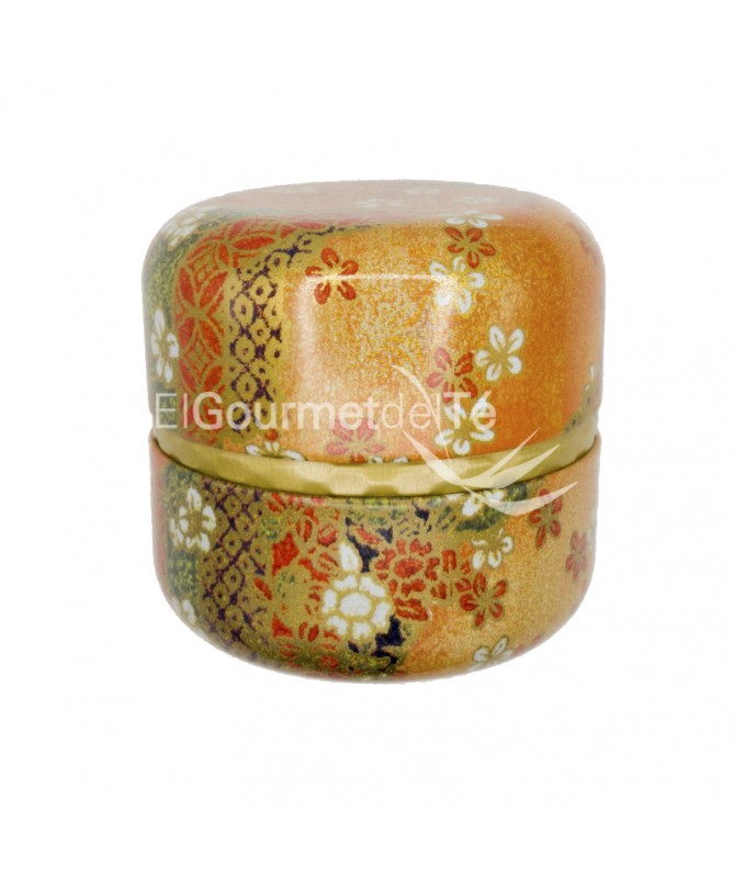 Lata japonesa Nagano 60 gr. (naranja-verde-dorado) almacenar té e infusiones